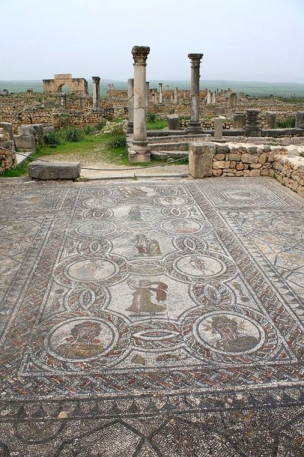 UNESCO World Heritage Site - Roman Archaeological Site of Volubilis in Morocco