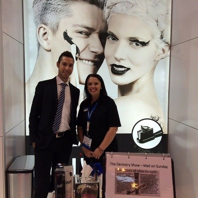 A picture from yesterdays dental showcase in Birmingham, where our salesrep Gianluca visited the Curaprox stand! We are very excited to be here!  #dentalshowcase #Birmingham #Curaprox #dental #marketing #BDIA2015 #exhibition #NEC #work #instabusiness #dentalmarketing