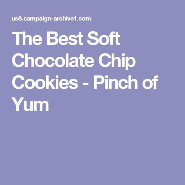 The Best Soft Chocolate Chip Cookies - Pinch of Yum