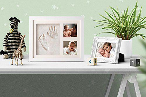 Marco para Huellas de Bebé de Mano y Pie con 2 fotos ★★★★★ 5 estrellas El marco con dos fotografías y huellas es uno de los reg