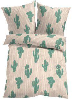 """Biancheria da letto """"Kaktus"""", bpc living, Verde"""