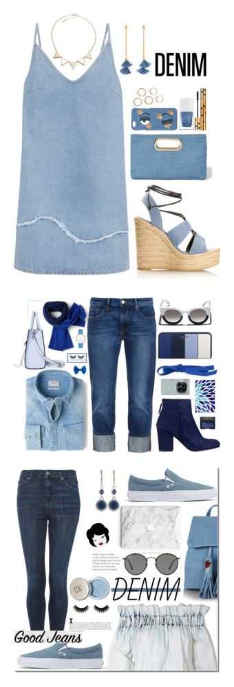 """""""Winners for All Denim, Head to Toe"""" by polyvore ❤ liked on Polyvore featuring Yves Saint Laurent, Ben-Amun, M.i.h Jeans, Accessorize, Chiara Ferragni, The Hand & Foot Spa, VALLEY, MANGO, Nine West and Martha Medeiros"""