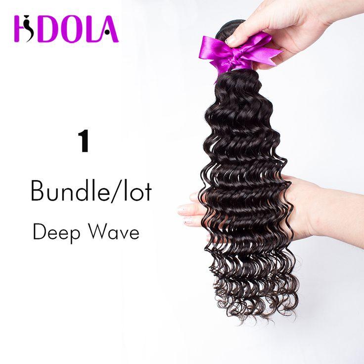 1 Unidades Sólo Visón Onda Profunda Brasileña Virgin Hair Bundle ofertas Onda Profunda Brasileña Del Pelo Rizado Brazillian Barato Humano de la Armadura pelo