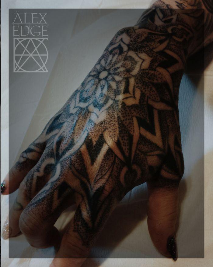dotwork mandala tattoo hand tattoo sacred geometry. Black Bedroom Furniture Sets. Home Design Ideas