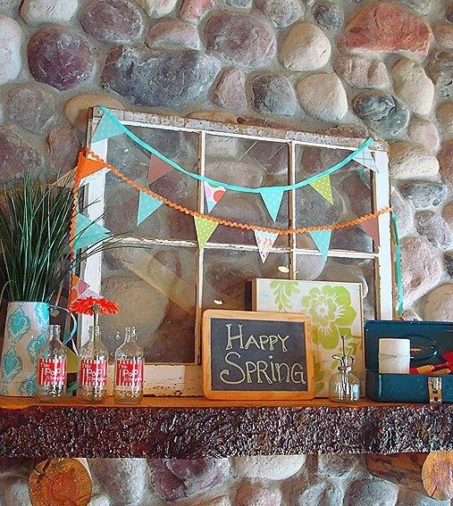 Colorful Ideas to Decorate Mantle for Spring!
