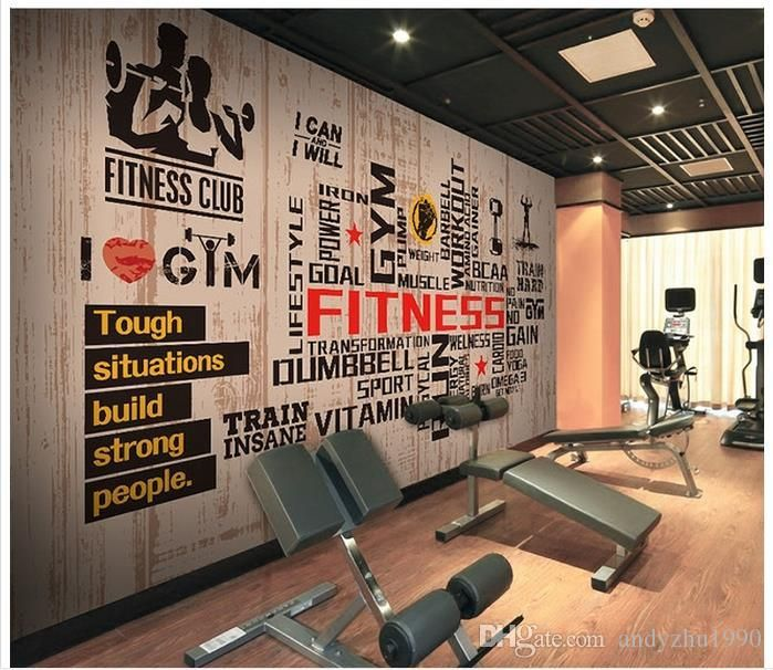 3d Wall Murals Wallpaper Custom Picture Mural Wall Sports Gymnasium Large 3d Living Room Wallpaper 3d Mural Gym Room At Home Gym Wall Decor Gym Design Interior