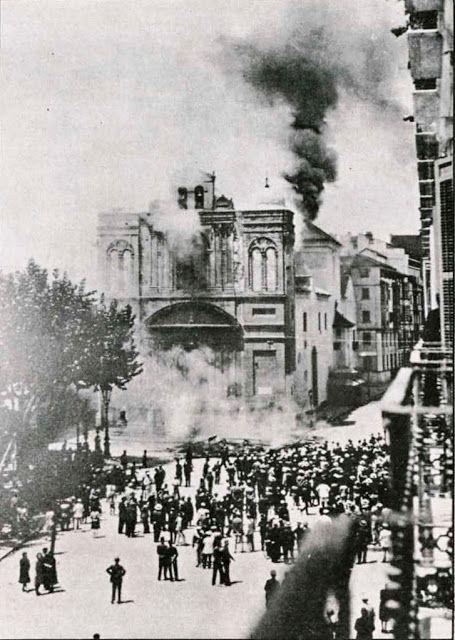 Quema De La Iglesia De La Merced 1931 Ancient Malaga Spain