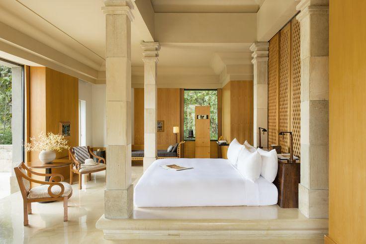 Suite bedroom at Amanjiwo Resort, Borobudur, Java.