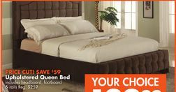 Upholstered Queen Bed from Big Lots $199.99 (SAVE $59)