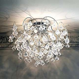 Layla Droplet Four Light Fitting | Dunelm