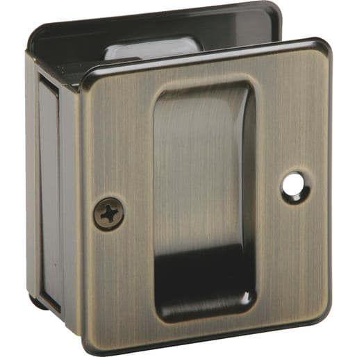Schlage Lock Ab Pass Pocket Door Pull SC990B-609 Unit: Each, Bronze