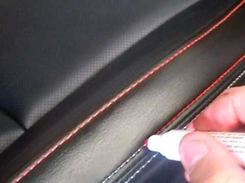 DIY Color Your Car Seat Stitching