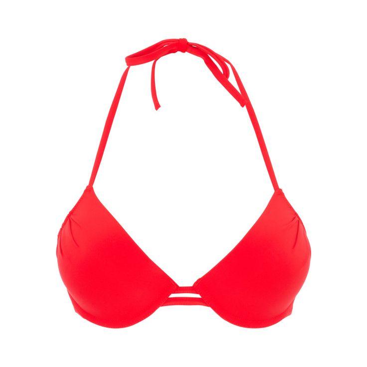 Haut de maillot de bain push rouge secretiz  - Bain