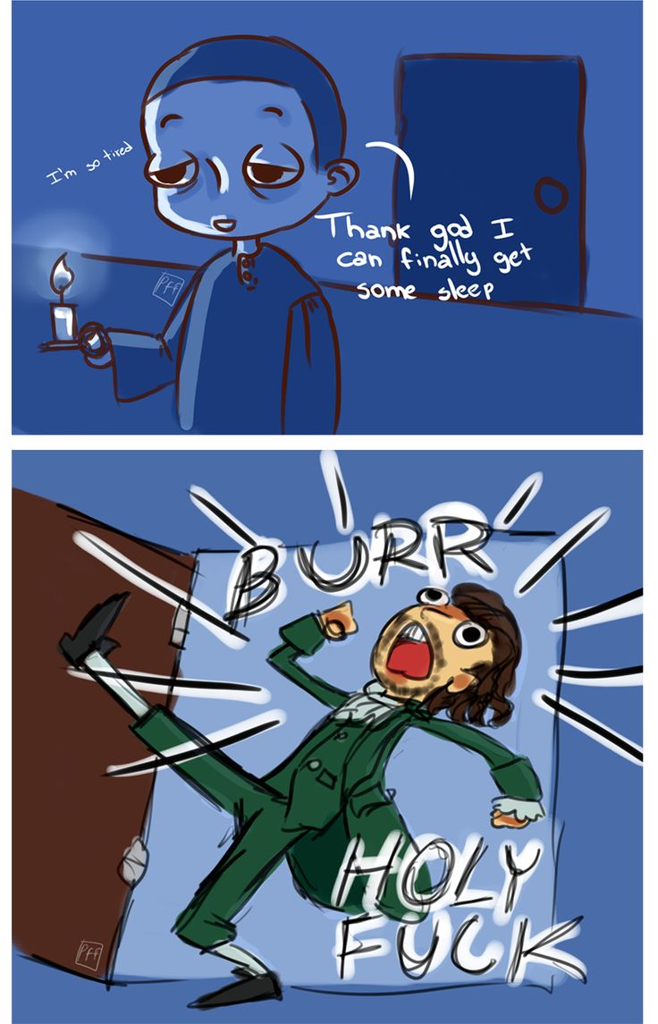 Burr and Ham Sorry for language, part of a little comic strip