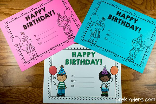 Printable Birthday Certificates for Teachers
