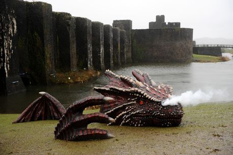 Happy St David's Day!  THIS is why Wales is so awesome... Dragons just appear on the beach!