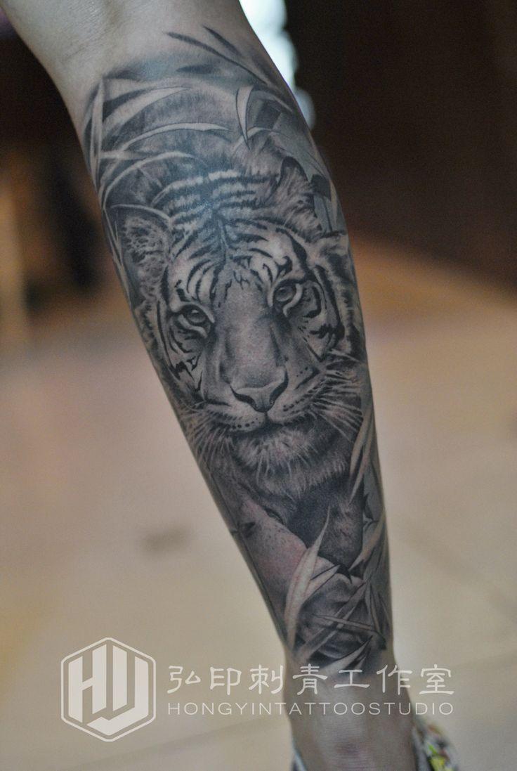 45 amazing japanese tattoo designs tattoo easily -  Realistic Tiger Tattoo Crus Tattoo Hongyin Tattoo