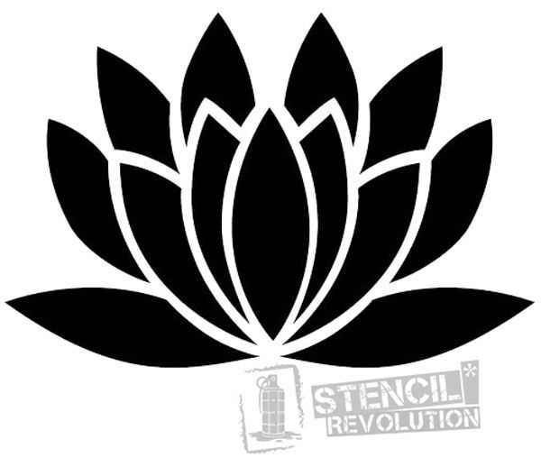 Simple Spray Paint Stencils Part - 39: Lotus Flower Stencil
