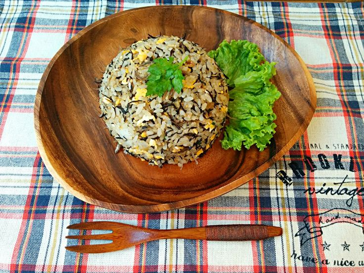 ことり's dish photo ともさんのお料理  ひじきチャーハン | http://snapdish.co #SnapDish #レシピ #再現料理 #炒めご飯/チャーハン #ひじき