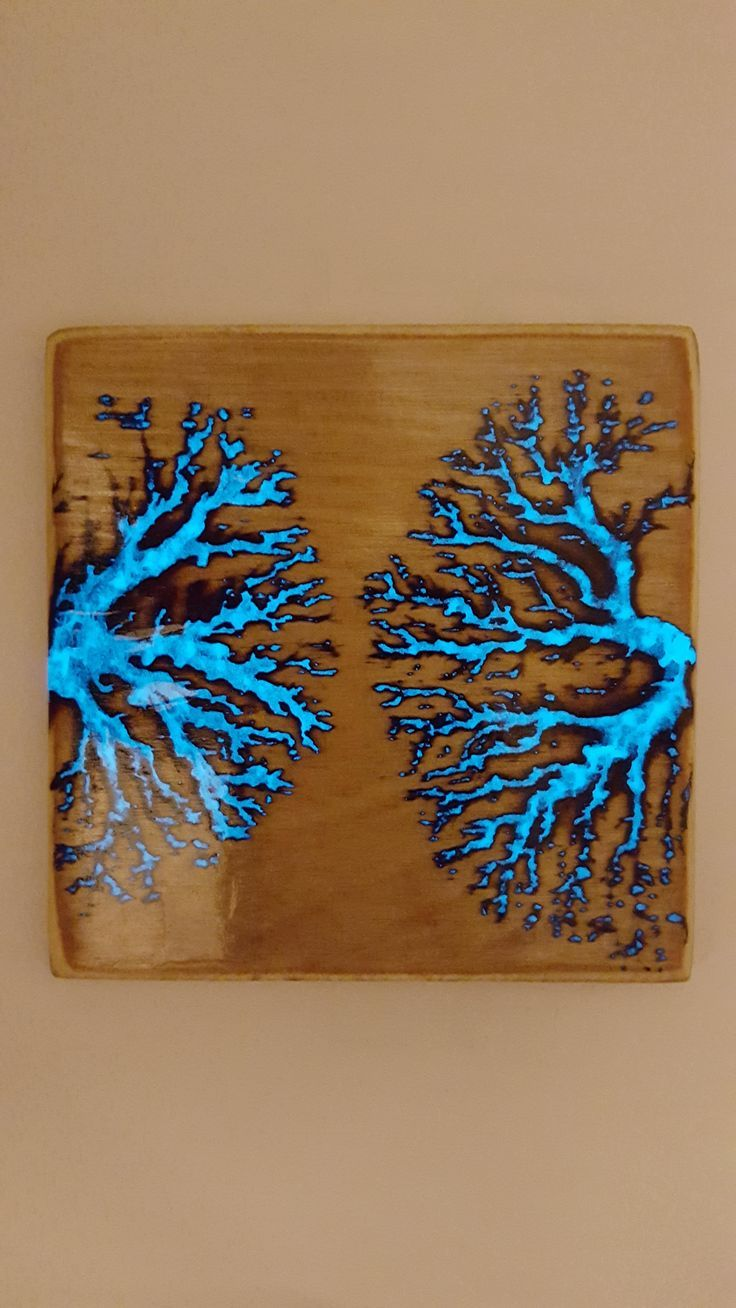 Fractal burning with glow in the dark resin album on - Glow in the dark resin table ...