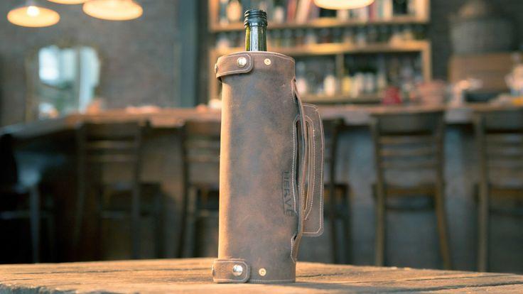 Porte-bouteille en cuir - Les Ateliers Hervé