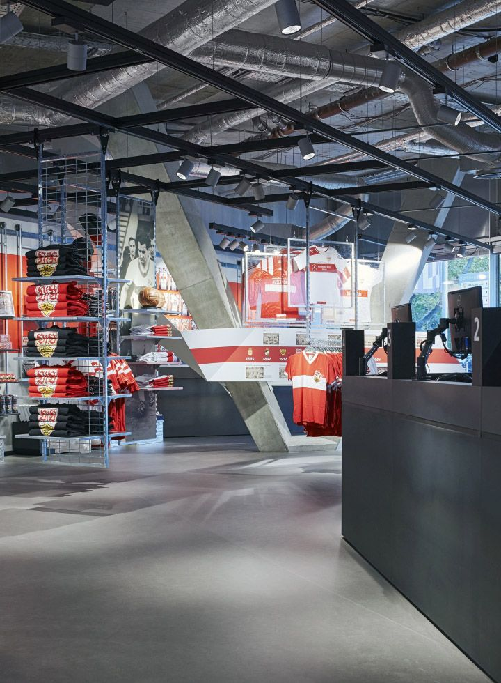 Bundesliga club VfB Stuttgart opens new fan center. Development and realization by Blocher Blocher Shops and Blocher Blocher View.