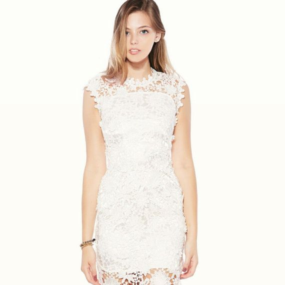 White Lace Dress - Made of High Quality Lace
