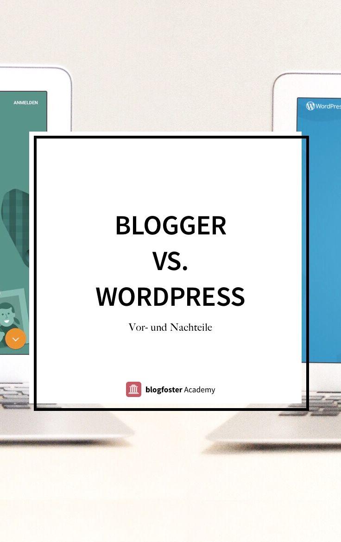 Blogger vs. WordPress - warum Du mit Deinem Blog von Blogger zu Wordpress umziehen solltest und was Du beachten musst.