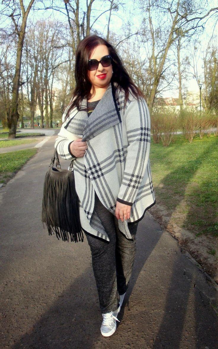 Plus Size Fashion and Style: Gdy pogoda w kratkę... czyli mój wczorajszy strój dnia! :)