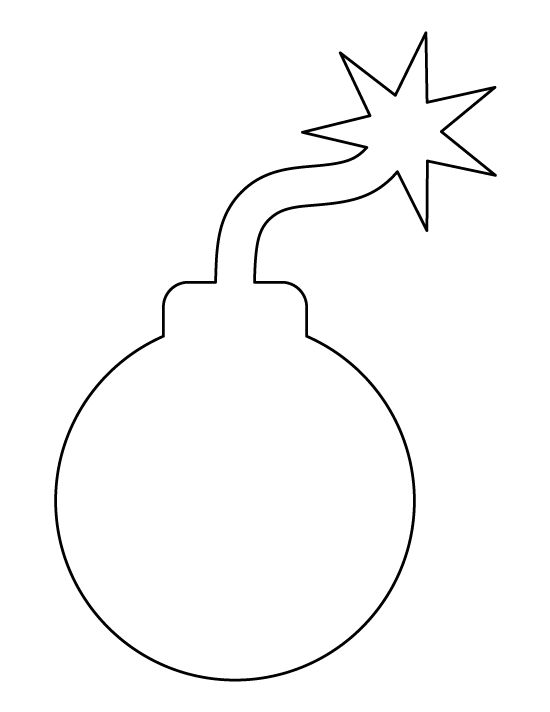 cartoon bomb pattern  use the printable outline for crafts
