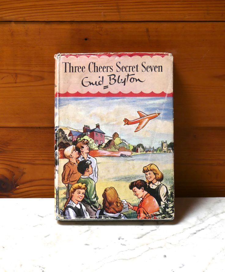 "Vintage 1960's Enid Blyton Hardcover Children's Book with Original Dust Jacket Fourth Impression 1963 ""Three Cheers secret Seven"" by JessaBellas on Etsy"