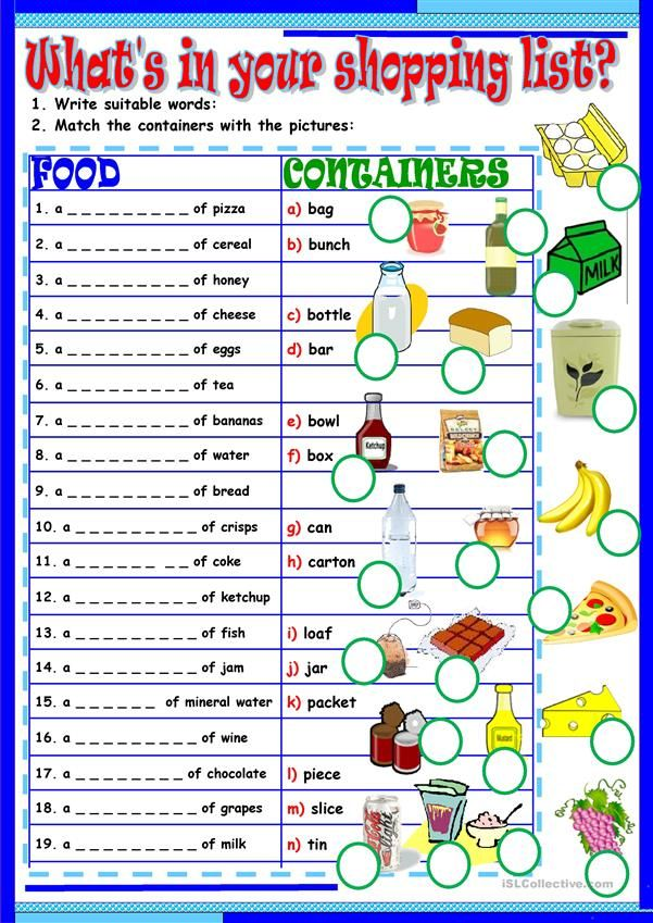 Whar's in your shopping list? English teaching materials