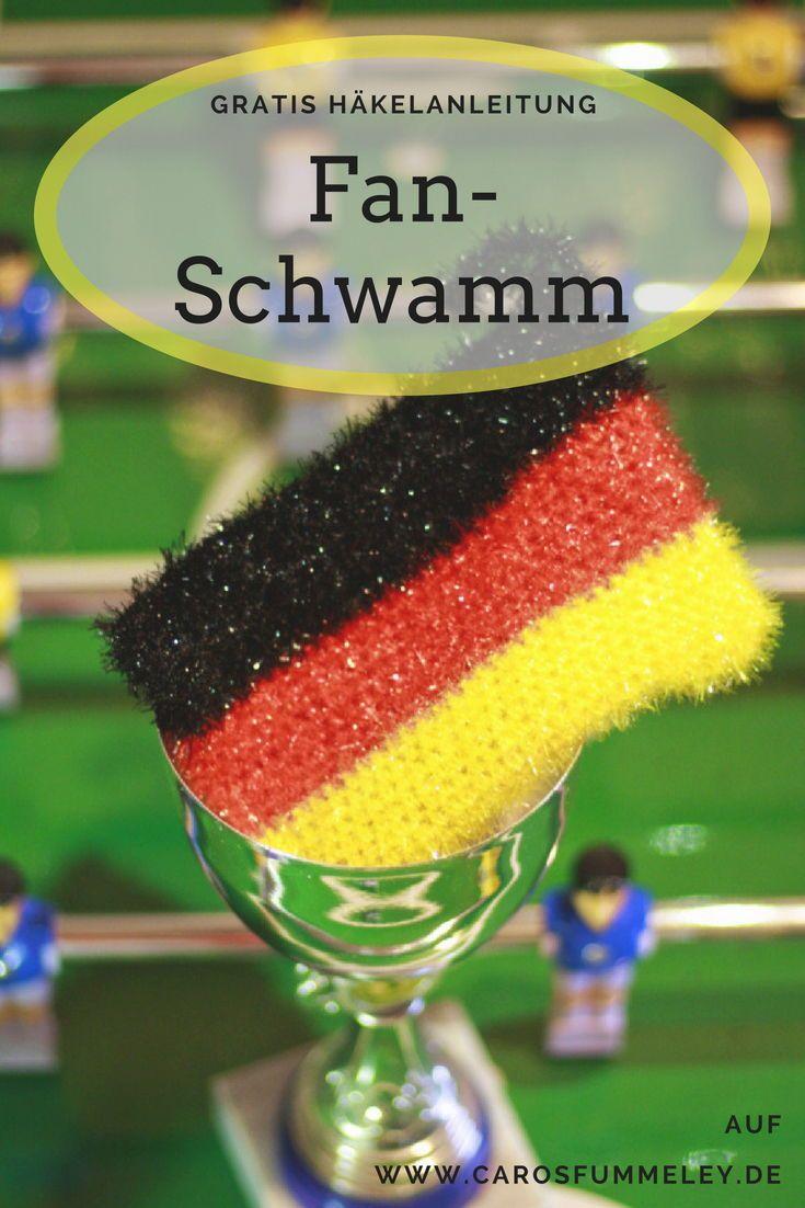 Fan Schwamm Häkeln Zur Weltmeisterschaft Diy Blogger Amigurumi