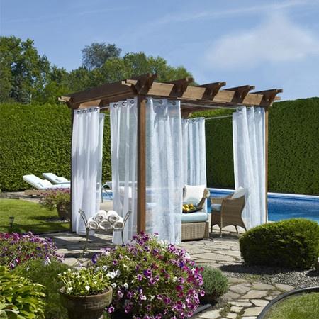 Biscayne Indoor/Outdoor Curtain Panel In Aqua
