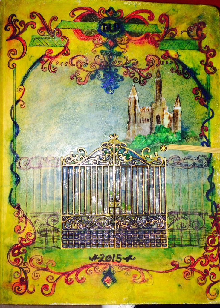 My cover of my DLP 2015 journl painted to look like an archaic mystical book