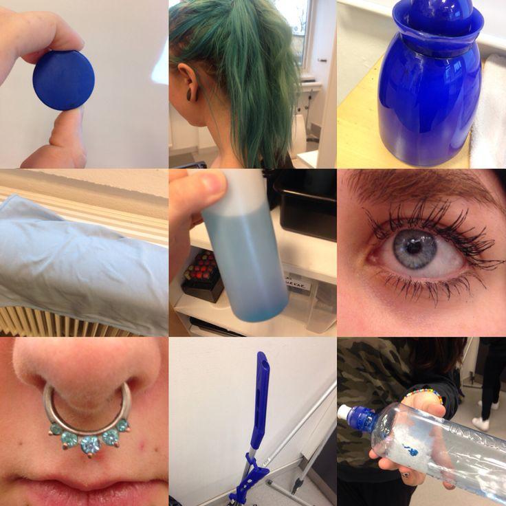 Färglära blå
