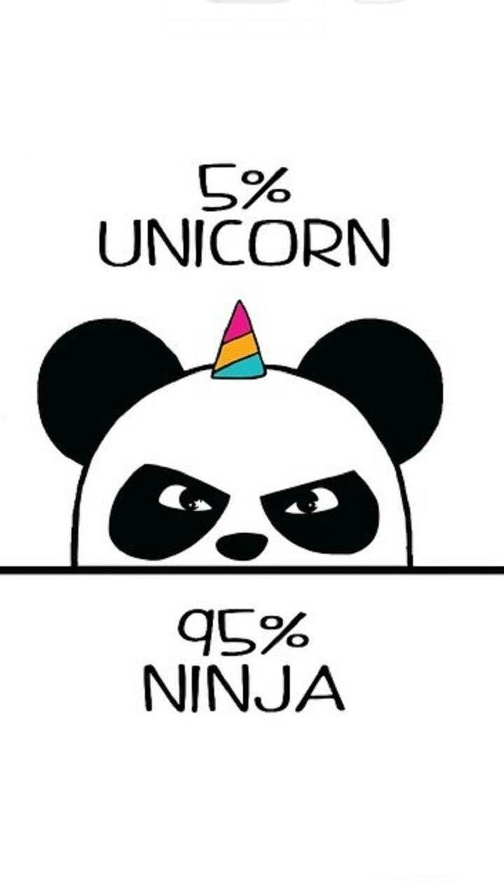 Unicorn Ninja Cute Panda Drawing Cute Kawaii Drawings Panda Art