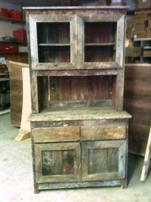 handcrafted hutch barnwood order piece step primitive amish hut bottom wood barn country old ham