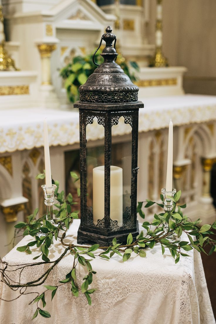 church wedding decorations candles%0A In a stunning church  the ceremony decor is minimal with a beautiful unity  candle