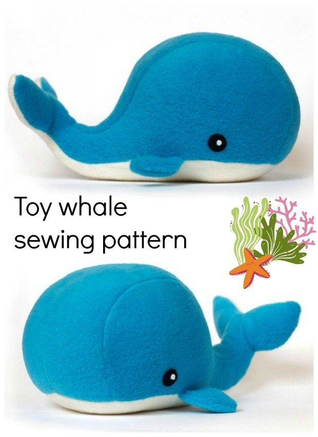 Whale soft toy sewing pattern. Perfect sewing pattern for a nursery or childs be…