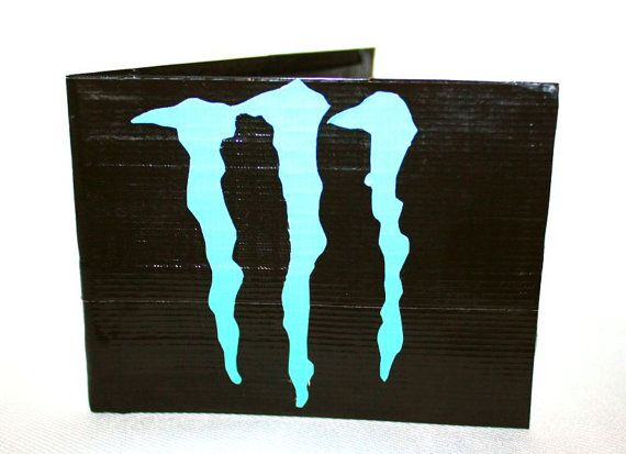 Monster Energy Drink Logo Duct Tape Wallet by DuctinamyteCreations on Etsy , $5.00