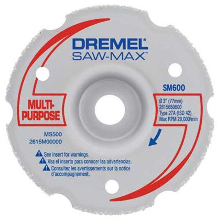 Disco de Corte Rente DSM600 - Dremel Disco Multiuso para Corte Nivelado Dremel DSM600 - para uso exclusivo na Dremel Saw-Max  Disco de carbeto de tungstênio, para cortes rentes de batente de portas e rodapés e também cortes chanfrados, Corta em uma variedade de materiais, como por exemplo madeira, madeira dura, madeira compensada, drywall, PVC, etc.  Até 21,5mm de profundidade de corte.  Uso apenas com a Ferramenta Dremel Saw-Max www.colar.com