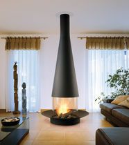 Holzkamin / modern / Geschlossene Feuerstelle / Aufsatz