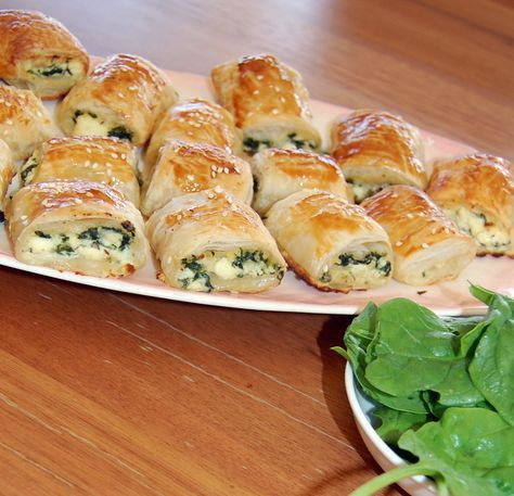 Spinach And Ricotta Rolls Appetizers For KidsSnacks