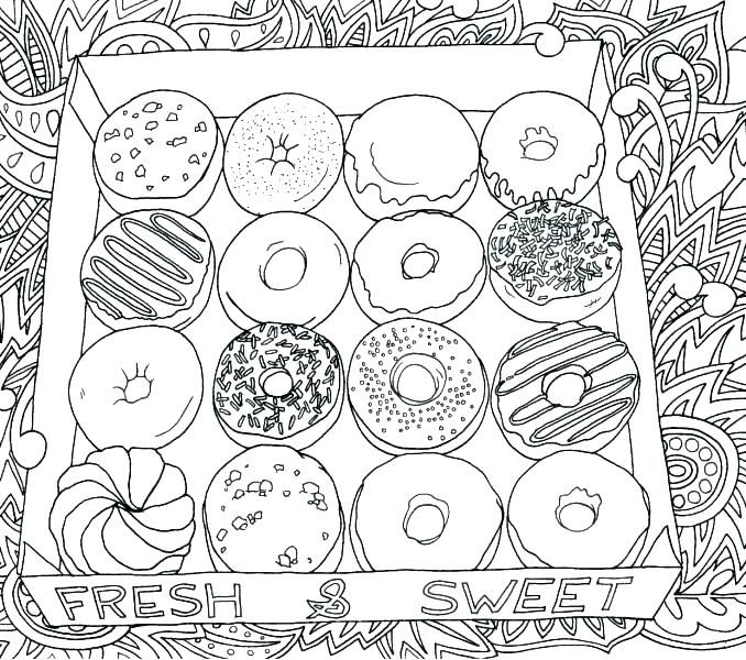 Donut Coloring Pages Best Coloring Pages For Kids Food Coloring Pages Donut Coloring Page Coloring Pages