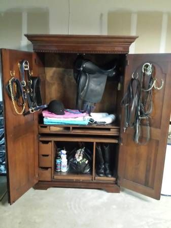 armoire as tack cabinet