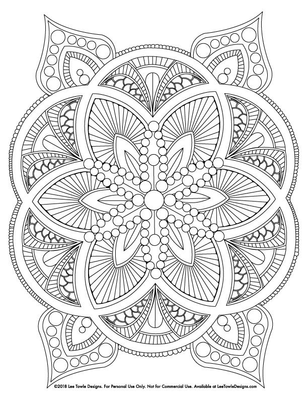 Abstract Mandala Advanced Coloring Page For Adults. This Free Coloring Page  Is Available … Mandala Coloring Pages, Abstract Coloring Pages, Mandala  Coloring Books