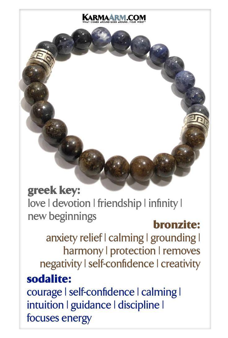 Boho Stretch Bracelets Lava Stone BE Aware Beaded Reiki Yoga Chakra Bracelet Meditation Jewelry Live in The Moment: Green Earth Jasper KarmaArm Mantra Bracelet