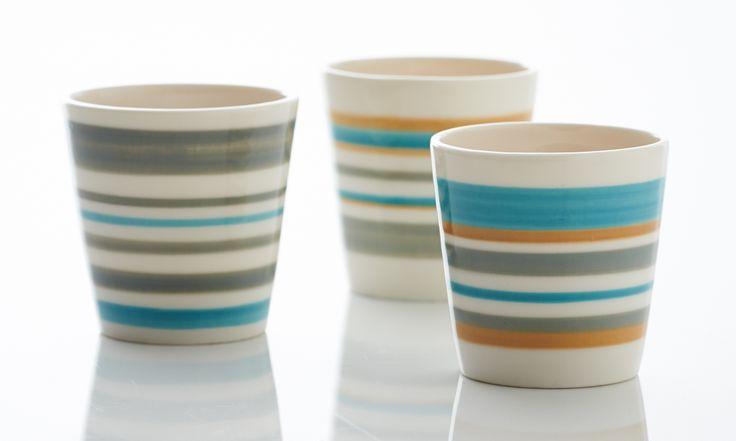 ριγέ ποτήρια της leo ceramics