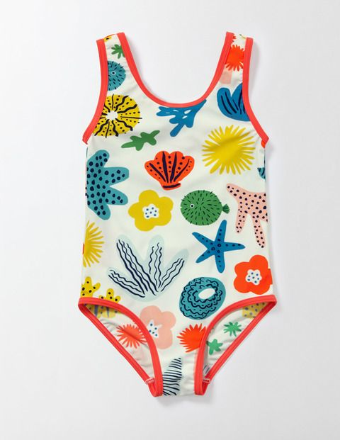 Hello, sunshine. When it's finally time to head to the seaside (yay!) throw on this pretty swimsuit. The bright colours and fast-drying fabric make it just as essential as a bucket and spade. It even has UPF 50+ sun protection to help keep your skin safe.